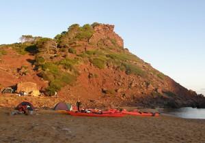 Acampada de Kayak de Mar
